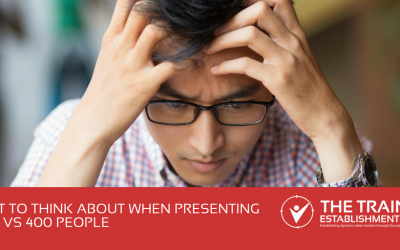 What to think about when presenting to 12 vs 400 people