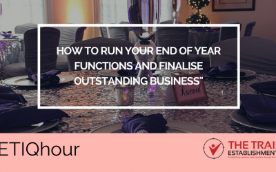 @ETIQhour – How to run your End of Year functions and finalise outstanding business