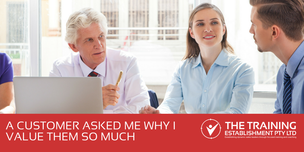 #AskBec: A customer asked me why I value them so much