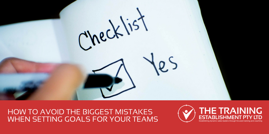 How to avoid the biggest mistakes when setting goals for your teams